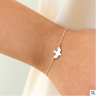 s 37 2017 hot fashion simple minimalist pigeon bracelet bracelet cute little swallow bird bracelet couple best gift factory dire - 64 Corp