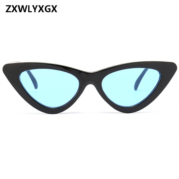 2018 small cateye triangle cute sexy retro cat eye sunglasses women small black white vintage cheap sun glasses oculos de sol - 64 Corp