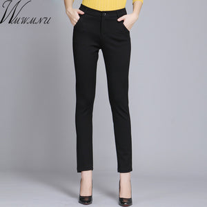Wmwmnu Women Trousers Work Wear casual Spring Black pencil Pants Plus Size 4XL Female Slim Pants Elastic Pantalones Mujer - 64 Corp