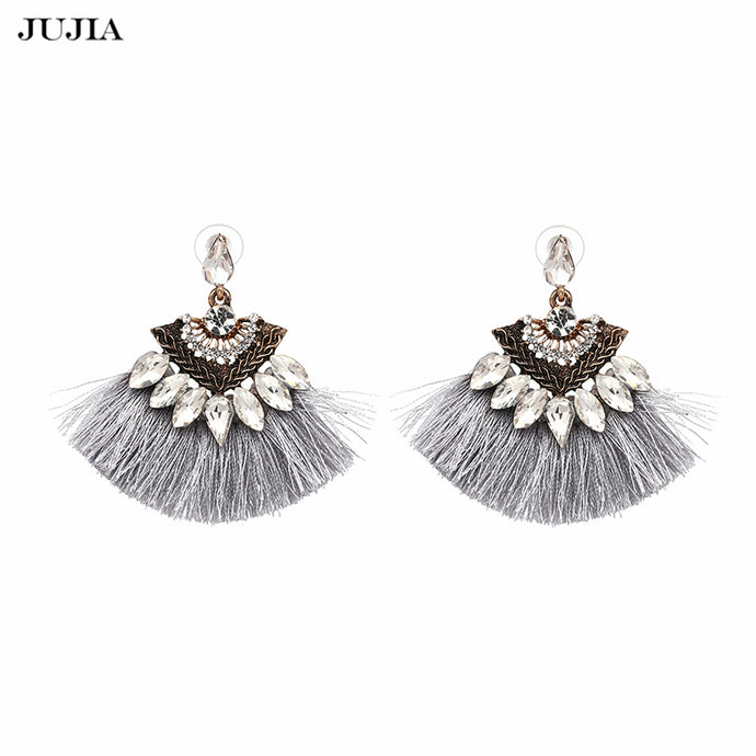 Vintage Fringing drop Earrings Fashion 2018 brand Boho Maxi luxury Dangle Tassel Earrings for Women Jewelry - 64 Corp