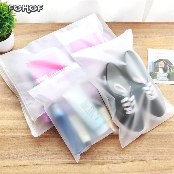 2018 hot Plastic Storage Bag for Travel Make Up Baggage Bag Waterproof Shoes Bag for Cloth Bag Zip Lock Storage Organizer Pouch - 64 Corp
