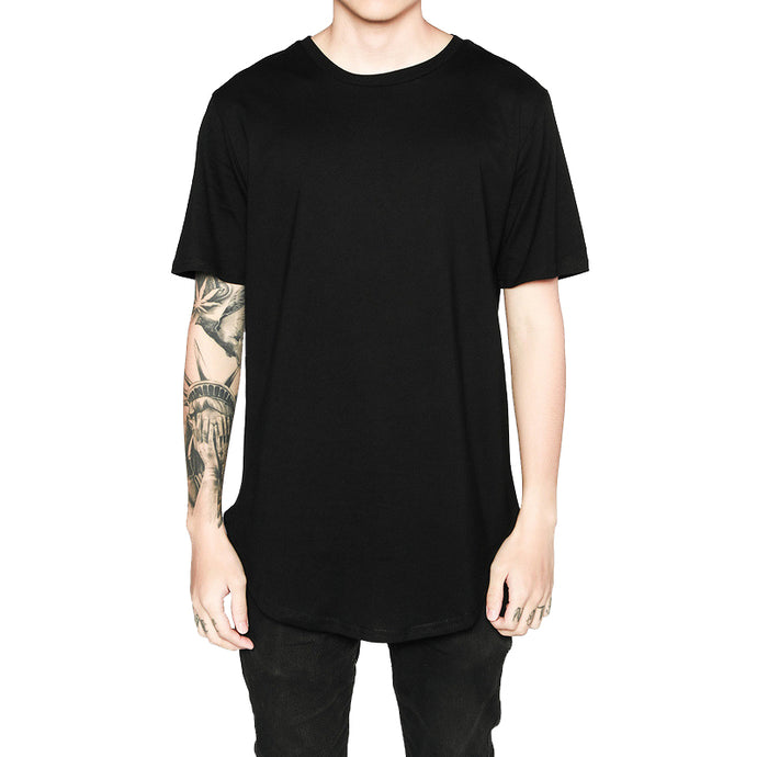 Hip Hop Leisure Style Long Line T-Shirts - 64 Corp