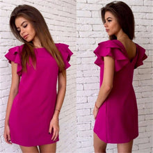 Women Sexy Backless Butterfly Sleeve Dress - 64 Corp