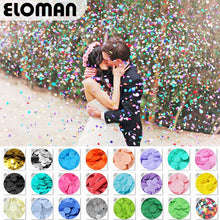 ELOMAN 30g/bag 2.5cm Confetti gold silver foil mulit 24 colors for wedding party decoration round Tissue for clear balloons