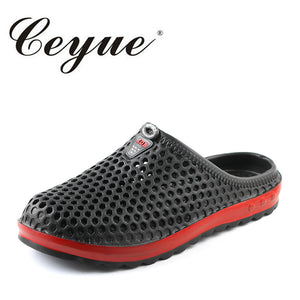 Ceyue Beach Slippers Men 2018 Summer New EVA Massage Mens Hot Sale Rubber Unisex Sandals Fashion Hollow Outdoor Walking Slippers - 64 Corp