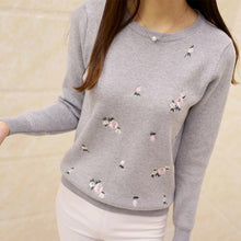 Embroidery Knitted Sweater - 64 Corp