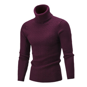 Jumper Turtleneck Jacquard Sweater - 64 Corp