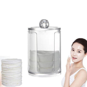 17cm x6.8cm Acrylic Organizer Boxes Round Container Storage Case Make up Cotton Pad Box Nail Art Remover Paper Wip Transparent - 64 Corp