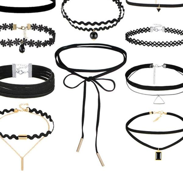17KM Bohemian Gothic Tattoo Choker Necklaces Set for Women Black Lace Long Necklace Female Collier Chain Fashion Jewelry Party - 64 Corp