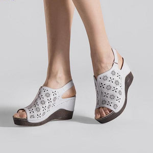 Open Toe Fish Head Platform Sandals - 64 Corp