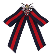 Crystal Striped Cloth Kawaii Girl Bow Tie Women Gravata Borboleta Bowtie Cute Bowknot Cravat Neck Ties Free Shipping Duftgold - 64 Corp