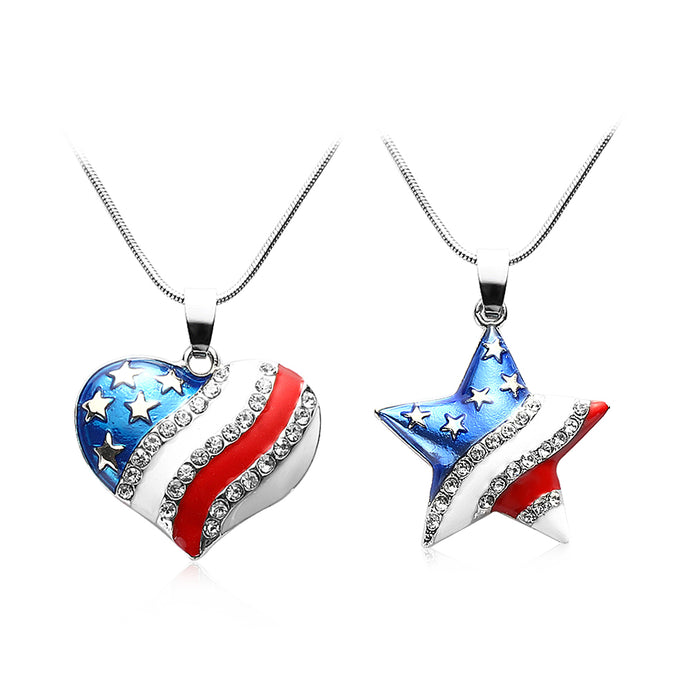 4th of July Independence Day Crystal Jewelry Best Gift - 64 Corp