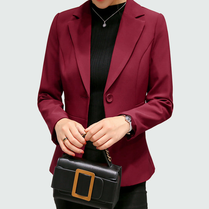 Long Sleeves Office Lady Single Button Women Suit - 64 Corp