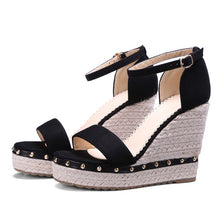High Heels Shoes Ankle Strap Wedges - 64 Corp