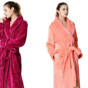 Men Women Spa Absorbent BathRobe / Coral Velvet Pajamas - 64 Corp