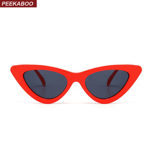 Peekaboo cute sexy retro cat eye sunglasses women small black white 2018 triangle vintage cheap sun glasses red female uv400 - 64 Corp