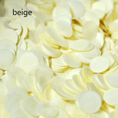 1 pack 2.5cm Bright Gold Sprinkle Tissue Paper Confetti Wedding Bride Flower Circle Shape Birthday Party Table Ballon Decoration