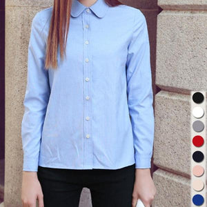 Casual Cotton Oxford Long Sleeved Shirt - 64 Corp
