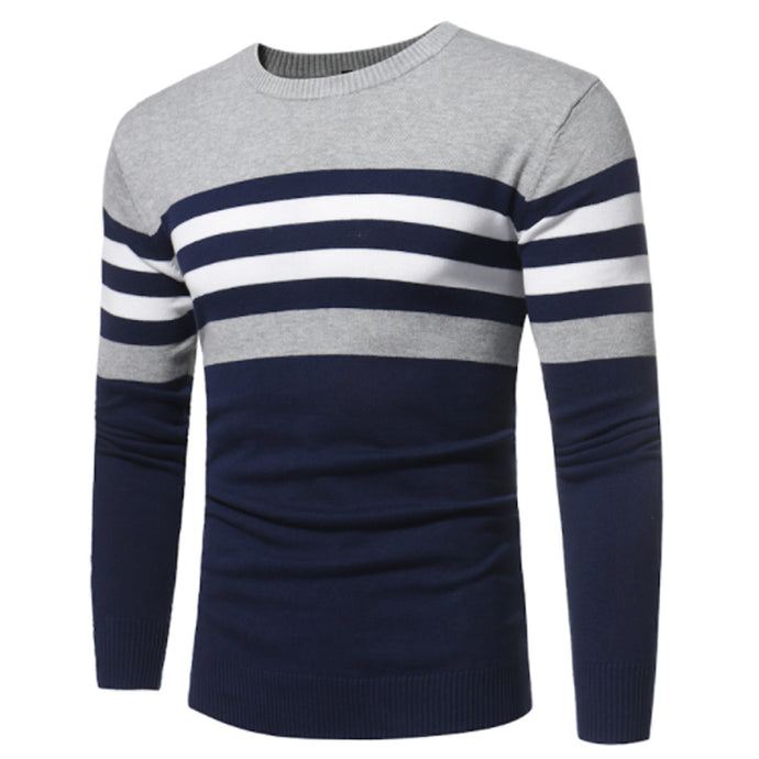 O Collar Stripe Sweaters - 64 Corp