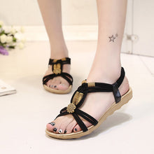 KUIDFAR 2018 Women Sandals  Shoes Woman Summer Fashion Flip Flops Ladies Shoes Sandalias Mujer Plus Size 36-42 Black beige - 64 Corp