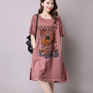 Loose Casual Artsy Womens Dresses - 64 Corp