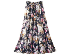 FLORAL LONG SKIRT - 64 Corp