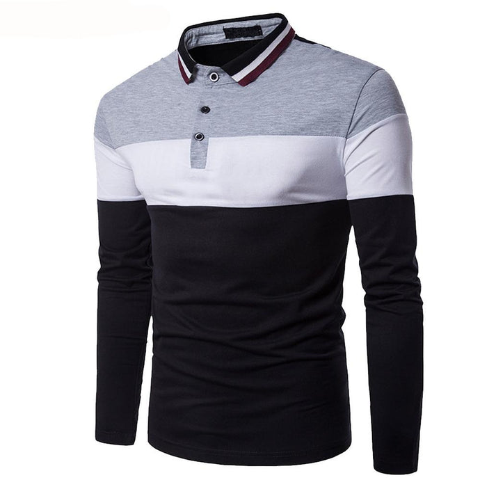 Men Patchwork Polo Shirt - 64 Corp