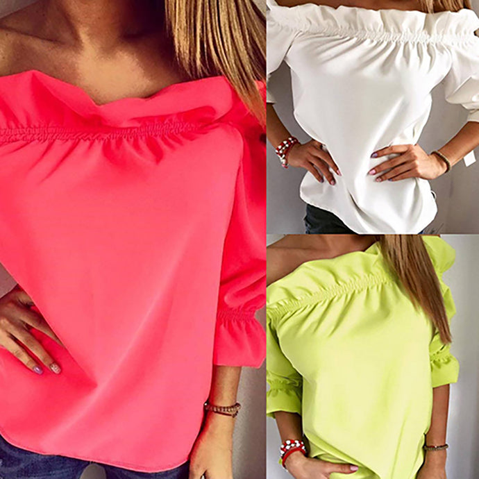 Top Party Off Shoulder Shirt Blouse - 64 Corp