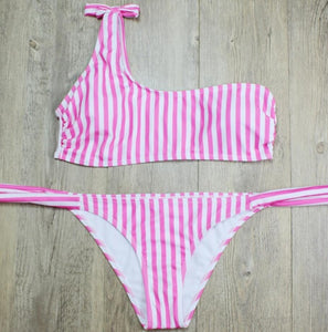 One Shoulder Bikini Two Pieces - 64 Corp