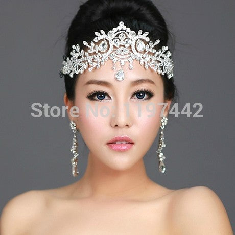 2018 hot sale bridal Hairbands Crystal Headbands women Hair Jewelry Wedding accessories crystal Tiaras And Crowns Head Chain - 64 Corp