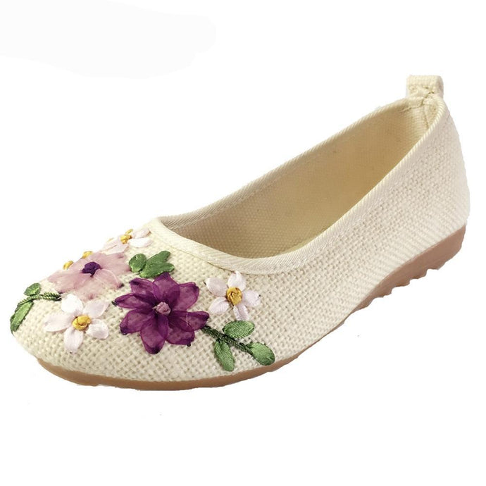 Comfortable Old Peking Ballerina Flat Shoes - 64 Corp
