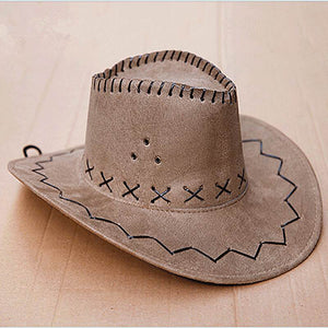 Cowboy Hat Suede Look Wild West - 64 Corp