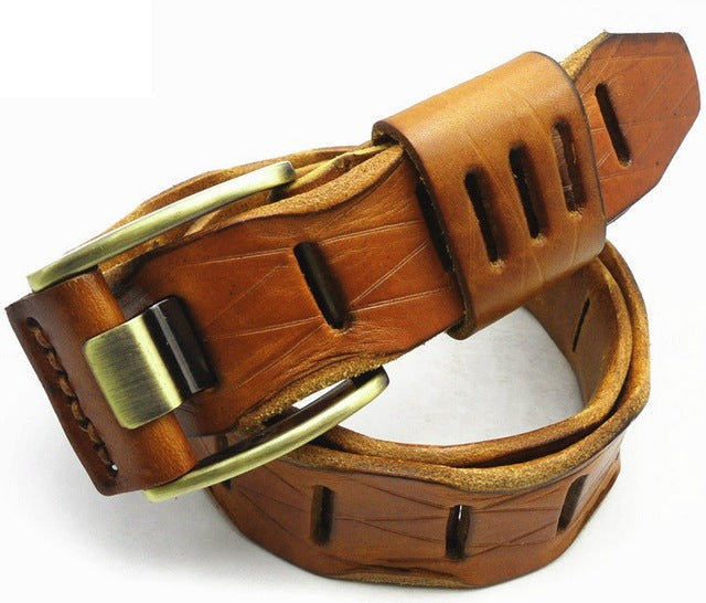 2018 new stylish Mens Belts luxury for women 100% real genuine Leather high quality jeans cowboy hot designer cowgirl camel red - 64 Corp