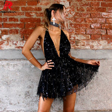 Sexy Sequined , Women Backless Halter dress - 64 Corp