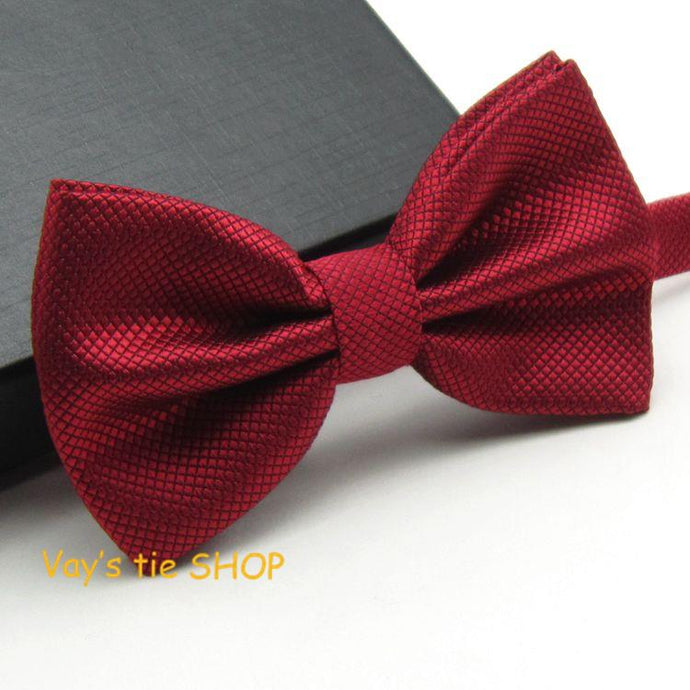 Jacquard Plaid Grid Leisure Bowtie - 64 Corp