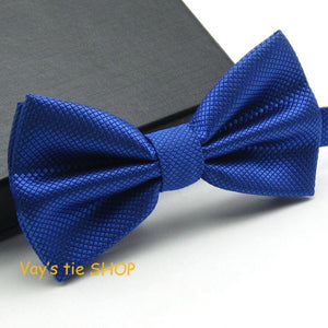 1PC Fashion Royal Blue Bow Tie For Men Jacquard Plaid Bowtie Grid Leisure Wedding Tuxedo Brand Cravat Free shipping Butterfly - 64 Corp