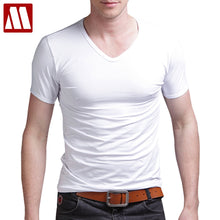 elastic cotton mens t shirts fashion 2018 casual v neck short sleeve t shirt men 5XL fitness men tshirt t-shirt tee shirt homme - 64 Corp