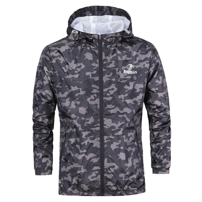 Mens Casual Camouflage Hoodie Jacket - 64 Corp