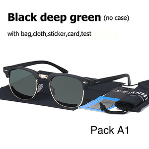 UV400 HD Polarized men women Sunglasses Classic fashion retro Brand Sun glasses Coating Drive Shades gafas De Sol Masculino - 64 Corp