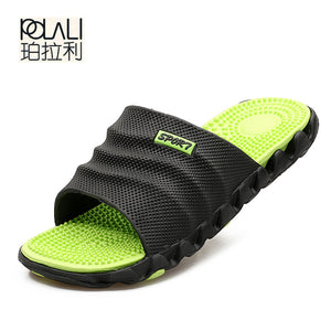 POLALI 2017 New Summer Cool Water Flip Flops Men High quality Soft Massage Beach Slippers,Fashion Man Casual Shoes - 64 Corp