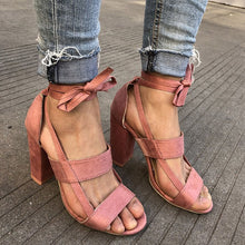 Women Pumps Fashion Gladiator Heels Shoes Woman Quality Lace Up High Heels Hollow Women Heels Black Pink - 64 Corp