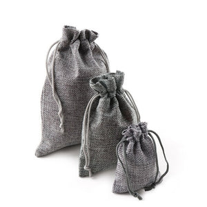 10PCS Christmas Linen Jute Drawstring Gift Bags Sacks Wedding Birthday Party Favors Drawstring Gift Bags Baby Shower Supplies - 64 Corp