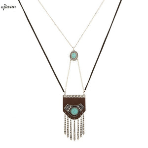 Navajo Fringe Necklace Hippie Boho Chic Jewelry Cowgirl Maxi Collier Plastron Native American Jewelry Online Shopping India - 64 Corp