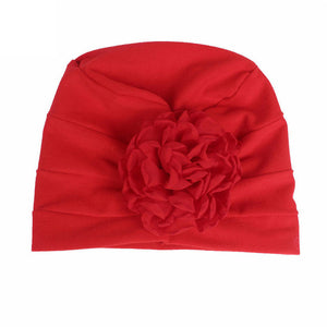 2017  New Arrival children hats autumn winter casual Girls Boho Hat Beanie Scarf flower Bonnet Chemo Turban Head Wrap Cap - 64 Corp