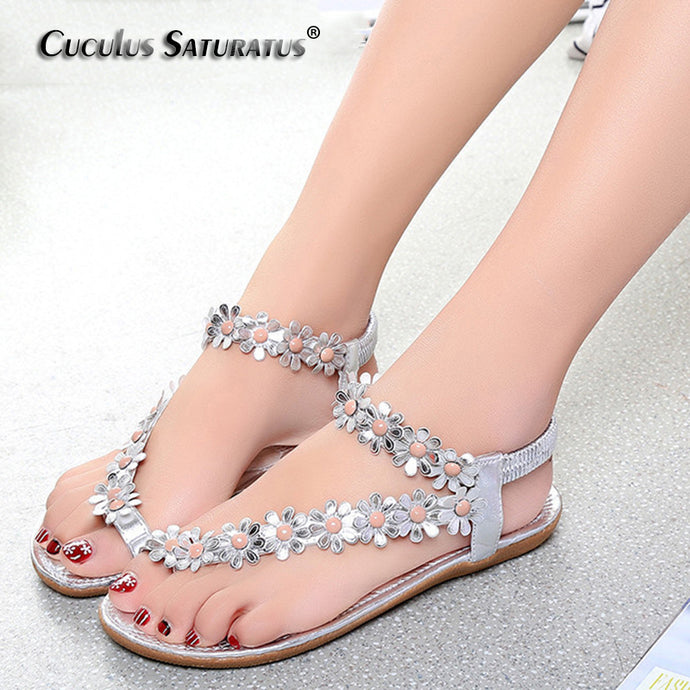 Cuculus 2018 Women Sandals Summer Style Bling Bowtie Fashion Peep Toe Jelly Shoes Sandal Flat Shoes Woman 3 Colors 01F669 - 64 Corp