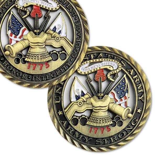 Military Soldier Unit Medallion Cutout Souvenir Coins for Gift - 64 Corp