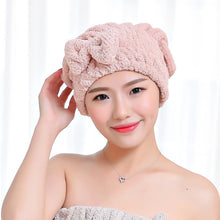 XC USHIO Soft Bowknot Lady Bath Towel With Pocket Towel Set For Gifts Hair Drying Cap Hat Head Towel Spa Beach Towel toalha - 64 Corp