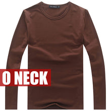 Hot Sale New spring high-elastic cotton t-shirts men's long sleeve v neck tight t shirt free CHINA POST shipping Asia S-XXXXXL - 64 Corp