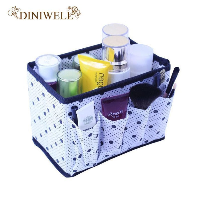 DINIWELL High Quality Folding Multifunction Make Up Storage Box Container Large capacity  Desktop Box Cosmetics  Organizer - 64 Corp