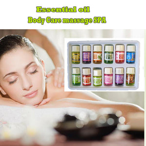 12 Kinds of Fragrance Essential Oil Pack for DIY Aromatherapy Humidifier Fragrance lamp Purifying air Spa Bath Lavender Oil YC - 64 Corp